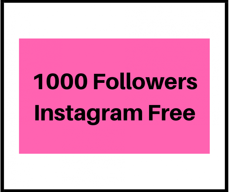 1000 Followers Instagram Free
